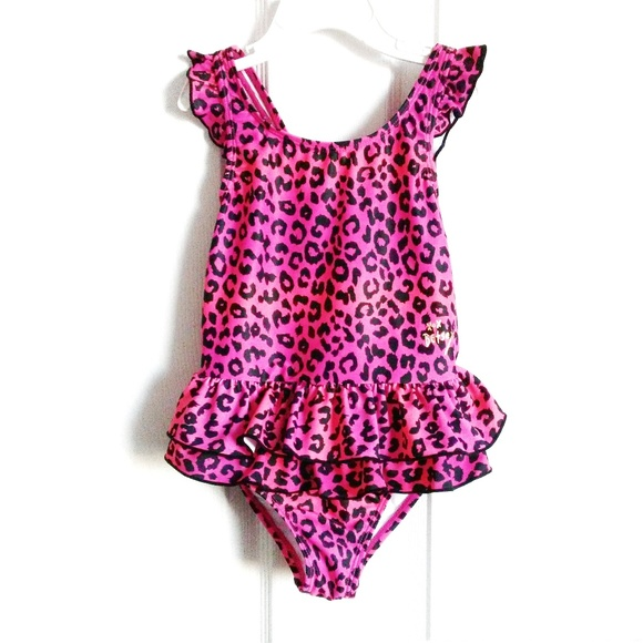 Betsey Johnson Other - Betsey Johnson Leopard Print Ruffle 1-Pc Swimsuit